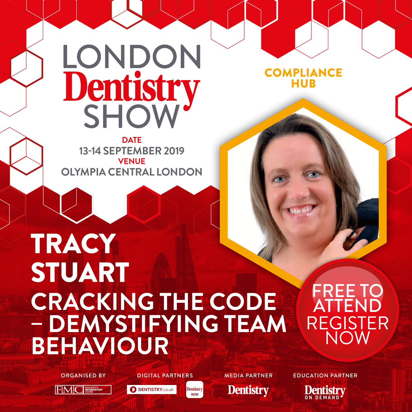 Poster advertising the London Dentistry SHow 2019